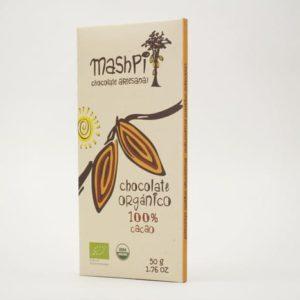 Barra de chocolate orgánico 100% 50 g