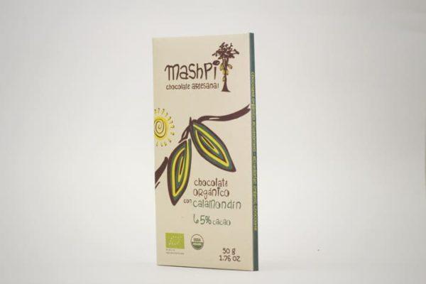 Barra de chocolate orgánico de 50 g con calamondin
