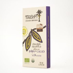 Barra de chocolate orgánico de 50 g relleno de pulpa de cacao