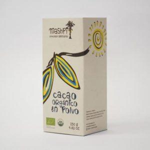 Caja de cacao en polvo orgánico